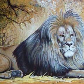 """Lying Lion"""